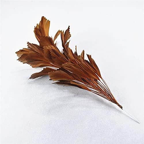 QILIN 1 Manojo de Plumas de Flor de Pluma de Ganso para Hacer Joyas, Plumas de faisán para Manualidades, Tocado, Accesorios de decoración de Boda