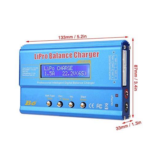 Cargador de batería RC, cargador de batería equilibrado, digital para LLiPo NiMH(#1, Transl)