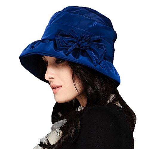 Maitose Maitose? Frauen-wasserdicht Winddicht Bucket Hat Blau
