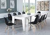 Home Innovation- Table TM, Console de Salle à Manger Extensible avec rallonges jusqu'à 239 cm, Couleur Blanche, Dimensions fermée : 90x53,6x74,6 cm de Hauteur.
