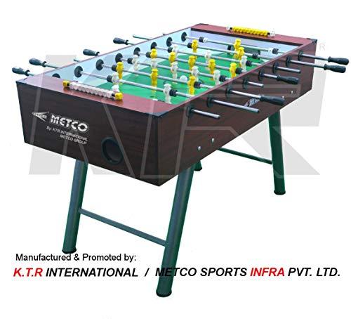 KTR METCO Wooden Soccer Foosball Table 55x30x34-inch (Brown, ST03)