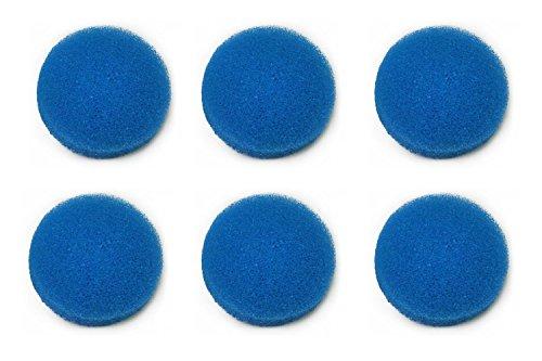 LTWHOME Blauer Rauher Filterschwamm Passend für Eheim ECCO Pro 130/200/300 ECCO 2232/2234/2236(6 Stück)