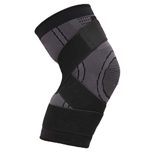 Kneepad HUORD kniesteun met verstelbare banden, sportkniebeschermers voor mountainbiking-tennis, basketbal en meer sport