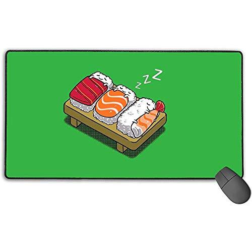 Slapende Sushi muismat met vergrendelingsrand, antislip rubberen voet muismat