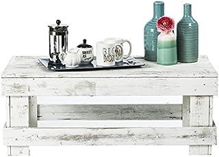 Natural Reclaimed Barnwood Rustic Farmhouse Coffee Table, USA Handmade Country Living Decor