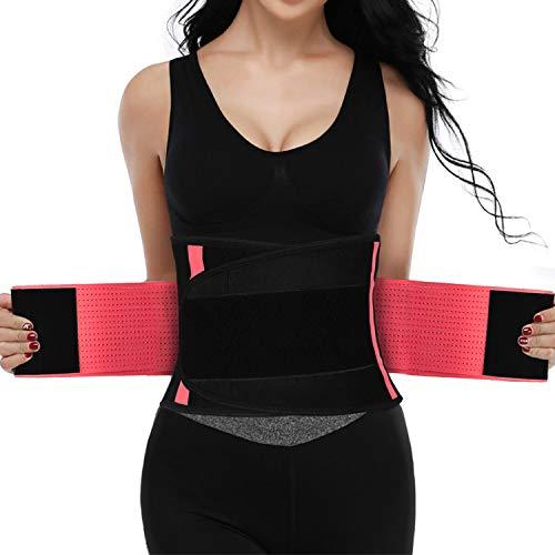 SZ-Climax Alivio del dolor en la parte baja de la espalda - Soporte lumbar ajustable de neopreno con doble tracción, Faja Lumbar Deportiva para Hombre y Mujer