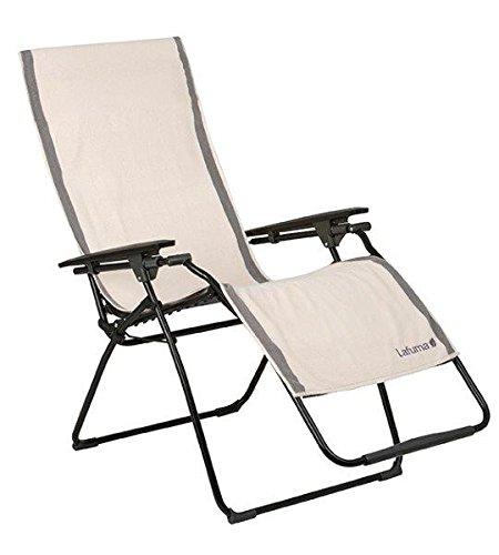 Lafuma Frotteeauflage für alle Relax-Liegestühle, 100% Baumwolle, ecru (grau), 60 x 180 cm