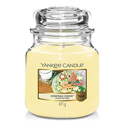 Yankee Candle Candela profumata in giara media | Biscotto di Natale | Durata Fino a 75 Ore