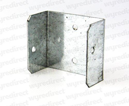 RECINTO clip del pannello/TRALICCIO gancio staffe 50mm x 50mm BZP