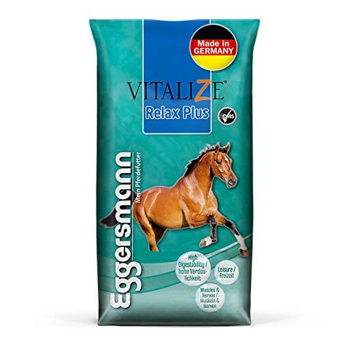 Eggersmann Vitalize Relax Plus – Pferdefutter für Freizeitpferde – Für leicht Beanspruchte Pferde – geeignet 20 kg Sack