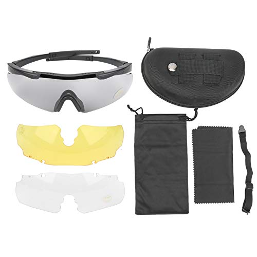 DAUERHAFT Kratzfeste Praktische Outdoor-Shooting-Brille, für die meisten Gesichtsformen geeignet, Augen vor Beschädigung schützen