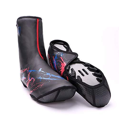 Huangjiahao Cubrezapatillas de Ciclismo Zapatillas de Ciclismo Unisex Resistente al Viento Cubierta térmica Transpirable Cubrebotas for Bicicleta Deportes al Aire Libre Protector de Ciclismo