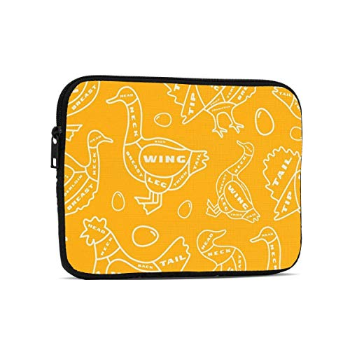 Chicken and Duck Composition Tablet Bag Comfort Laptop Bag Tablet Sleeve Case for Ipad 7.9 Inch,