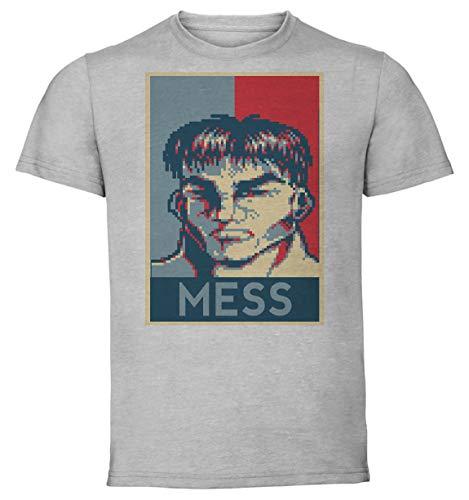 Instabuy T-Shirt Unisex - Color Gray - Propaganda - Pixel Art - Cadillac and Dinosaurs - Mess B Taglia Large