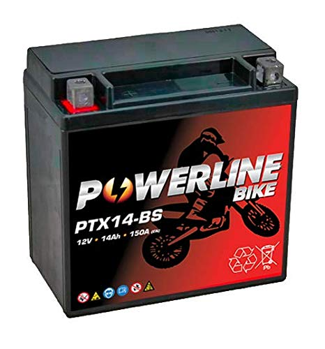 PTX14-BS Powerline Motorcycle Battery 12V 14Ah