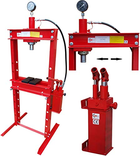 Carmax Werkstattpresse 20T Hydraulikpresse mit 2-Pumpen hydraulisch Rahmenpresse Presse
