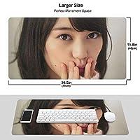 生田絵梨花 マウスパッド 光学マウス対応 パソコン 周辺機器 超大型 防水 洗える 滑り止め 高級感 耐久性が良いOne Size