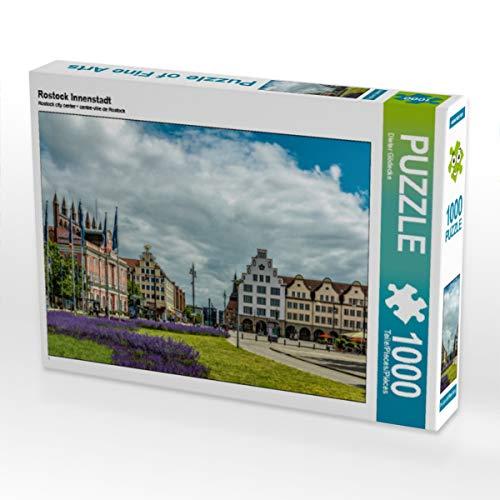 CALVENDO Puzzle Rostock Innenstadt 1000 Teile Lege-Größe 64 x 48 cm Foto-Puzzle Bild von Dieter Gödecke