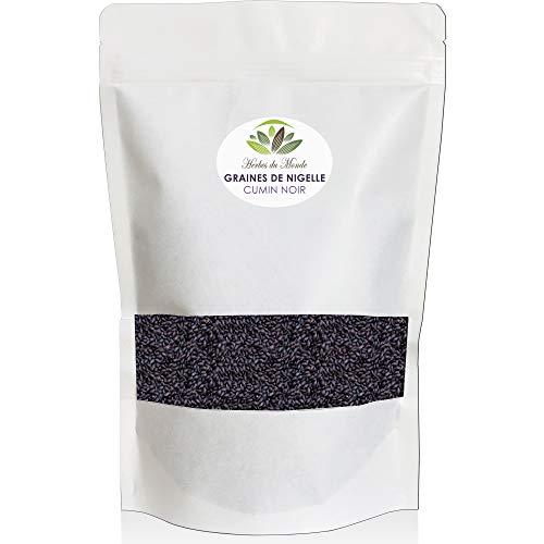 Graine de Nigelle - Cumin noir - Nigella Sativa - Multiples bienfaits pour l'organisme - Naturelle et Authentique du Maroc - 200g