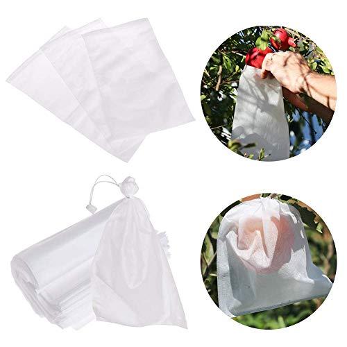 OUNONA 100 unids Fruit Nursery Bags Plant Grow Bags Tela Pl/ántulas Ollas 250mm x 300mm