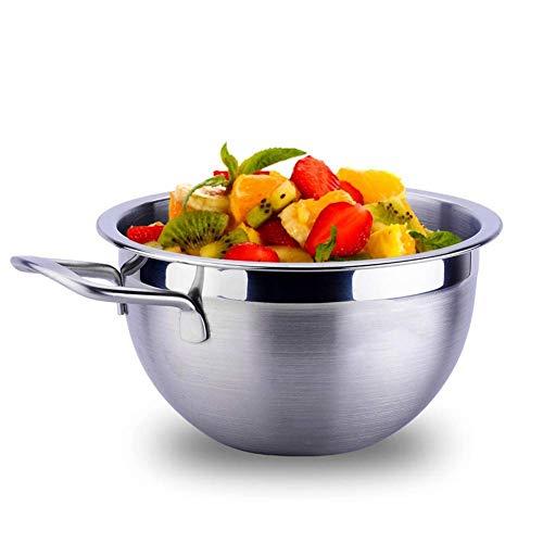 Wok, Kochtöpfe Pfannenschale Edelstahl-Tiefmisch-Salatschüssel, Back- und Servierschalen für Nudeln, Rühren, Lebensmittelkonservierung, hochglanzpolierte Technologie, für einfaches Greifen und Gießen