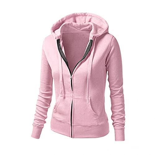 Chaqueta de piel para mujer, chaqueta larga resistente al viento, capucha con cremallera, chaqueta con capucha, chaqueta de color liso, chaqueta de entretiempo, bolsillos con cordón, ropa exterior