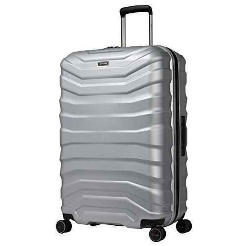 Eminent Koffer Aero 77 cm 107 L ECO großer Hartschalenkoffer leicht 4 leise Doppelrollen Reisegepäck Silber