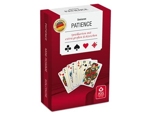 Kartenspiele, Patience Seniorenkarte von Ass Altenburger Spielkartenfabrik