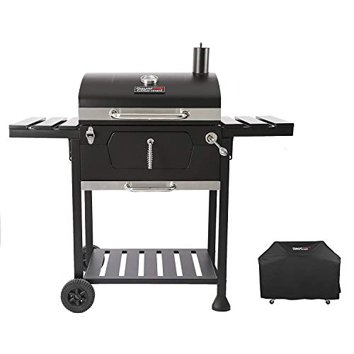 Royal Gourmet CD1824EC 24-Inch Charcoal BBQ Grill with Cover, Black