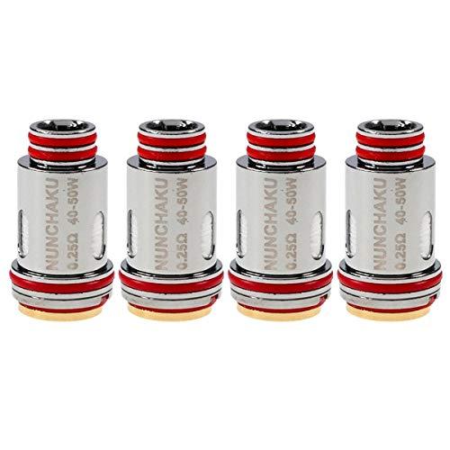 Uwell Nunchaku Coils (0,25 Ohm), DL FeCrAl Verdampferköpfe für e-Zigarette, 4 Stück