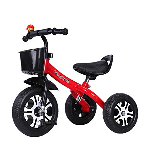 GYF Vespa 1-3-6 Años Niños Y Niñas De Juguetes De Montar Cumpleaños De Los Niños Bici del Bebé del Triciclo De Niños Están Ausentes 6 Opciones De Color 57X67X43CM (Color : Blue)