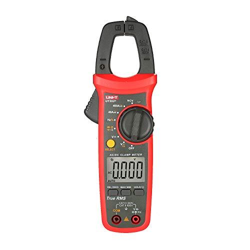 Lepeuxi UT203 + 4000 Zählt Digitale Zangenmessgeräte True RMS Multimeter Zangenamperemeter Spannungsmessgerät NCV-Test Universalzangenmessgerät AC/DC-Stromzangenmessgerät