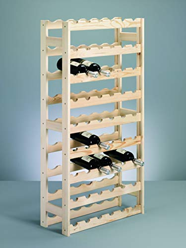 Zeller 13165 Étagère à bouteilles en pin 67,5 x 25 x 118 cm
