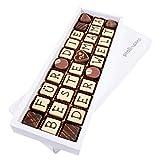 """Pralinamo """"FÜR DIE BESTE MAMA DER WELT"""" Pralinen - Besonderes Geschenk für Muttertag, Ausgefallene Schokolade für Mama, Mutter, 30 handgemachte Pralinen"""