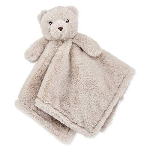 Okie Dokie Gray Teddy Bear Lovey Security Blanket for Baby