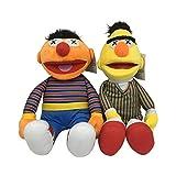 jingru Dibujos Animados TV Barrio Sésamo Elmo Ernie & Bert Juguetes De Peluche Almohada De Peluche Suave Muñecas Cómodas para Niños Regalo 2 Uds 50Cm