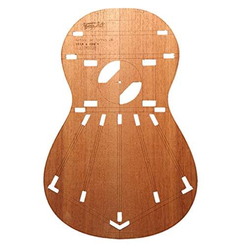 Sharplace Plantillas de Madera para Guitarra Clásica, Plantilla de Cuerpo, Suministro de Luthier, Accesorios de Bricolaje