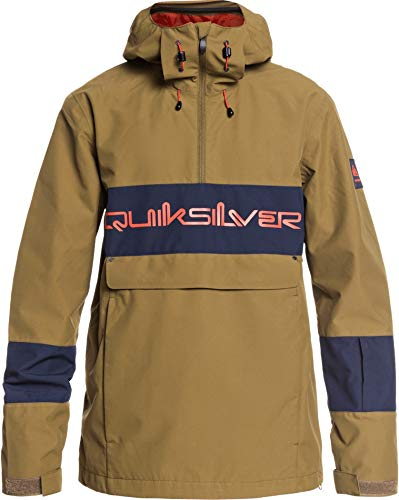 Quiksilver Steeze Anorak Snowboard Jacket Mens Sz L Military Olive