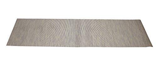 Chemin de table, design tendance, tissu synthétique, ton beige, traité anti-tâches