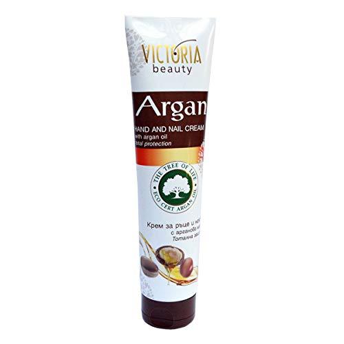 Victoria Beauty - Handcreme und Nagelcreme mit Rosenöl und Hyaluronsäure für sehr trockene und rissige Hände, Hyaluron Creme (1 x 100 ml)