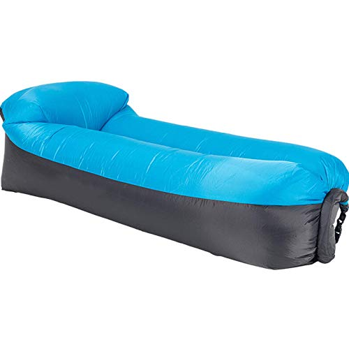 NDYD Inflatable sofa,lazy Air bed,185X70X52CM,Ultra-light and portable,no air pump required,waterproof and tear-resistant,Suitable for outdoor,beach,park DSB (Color : Blue)