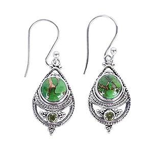 Vintage Statement Drop Dangle Earrings Bohemian National Style Hollow Water Drop Long Boho Dangle Earrings for Women…