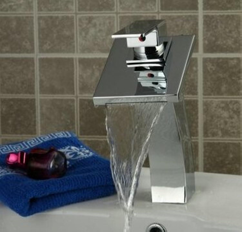 U-Enjoy Badezimmer-Hahn-Mischer Top-Qualitt Hahn-Wasser-Hahn-Wasserfall-Hahn Waschbecken Wasserhahn Messingmischer [Kostenloser Versand]