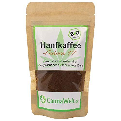 CannaWelt Bio Hanfkaffee Fedora 17 - magenschonend und sehr aromatisch - DE-ÖKO-039 (100g)