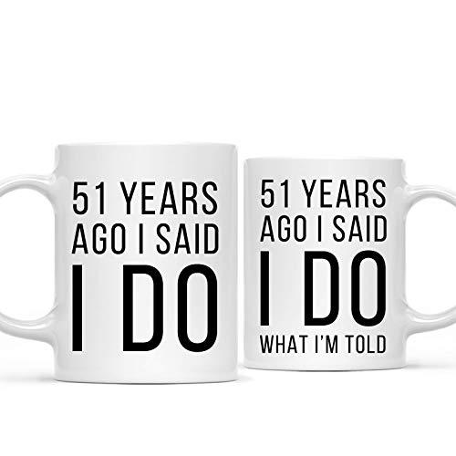 Funny 51st Wedding Mugs