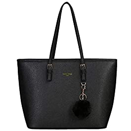 URAQT Cabas Femme, Grand Sac à Main Femme, Cabas Fourre-Tout Cuir PU Rigide, Sac à Main Shopping Femme Grand Format…