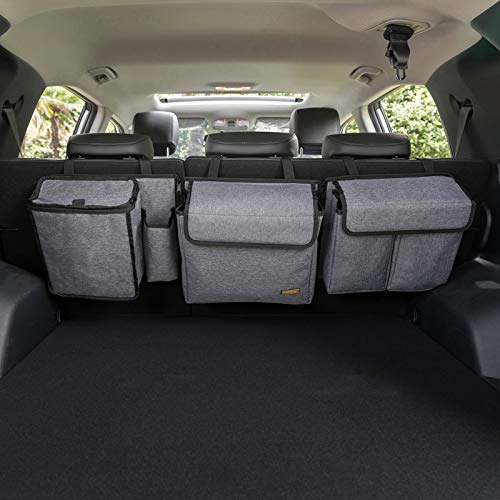 MARKSIGN Deluxe Trunk and Backseat Organizer for Medium or large size SUVs & RVs, Detachable Storage Modules with Built-in Cooler