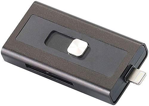 Callstel iPhone Stick: microSD-Speichererweiterung für iPhone & iPad, MFi-zertif, bis 128 GB (Speichererweiterung iPhone 5s)