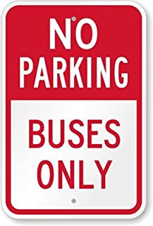 bus parking sign