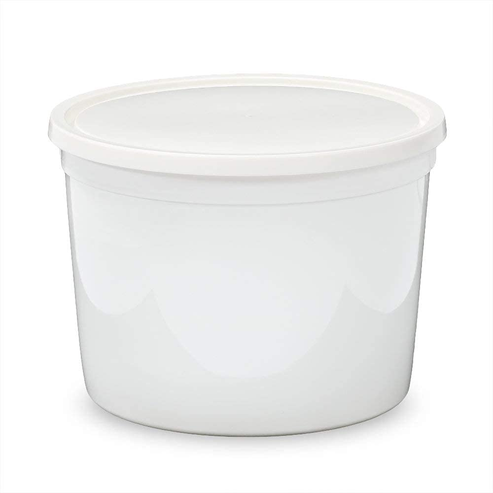 1/2 Gallon (64 oz) Food Storage Containers with Lids - Freezer and Microwave Safe Storage Containers, Round Plastic Containers with Lid, BPA Free, 45 Pack